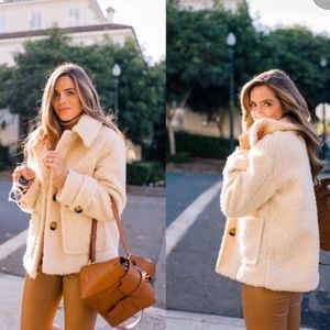 Free People So Soft Teddy Coat size M